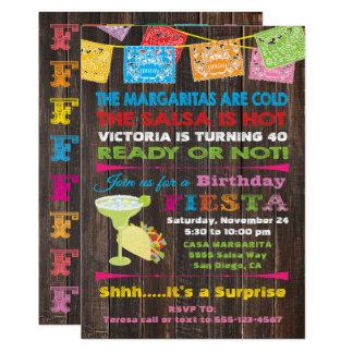 Rustic Mexican Fiesta Birthday Party Invitation