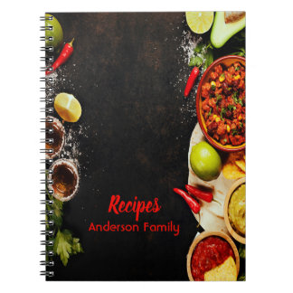 Rustic Mexican food style recipe notebook