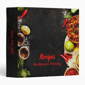 Rustic Mexican style recipe cookbook binder