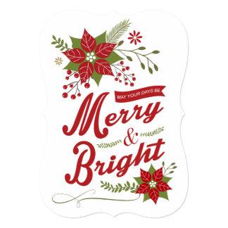 Rustic modern Christmas floral Card