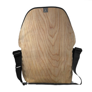 Rustic Modern Unfinished Wood Pattern Printed Courier Bag