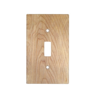 Rustic Modern Unfinished Wood Pattern Printed Light Switch Cover