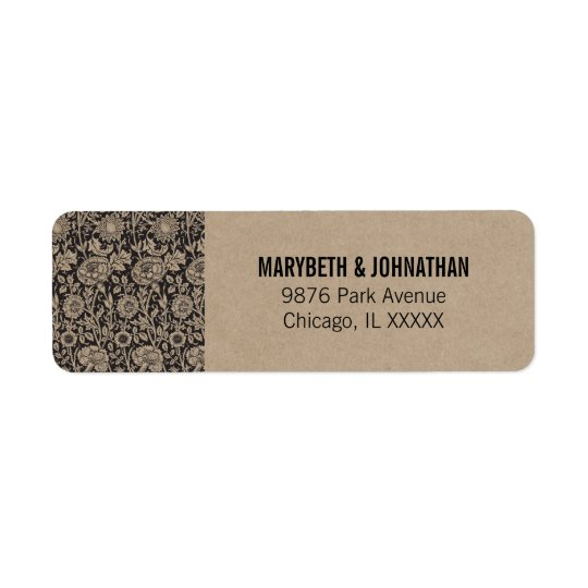 Rustic Modern We Do Wedding Return Address Label