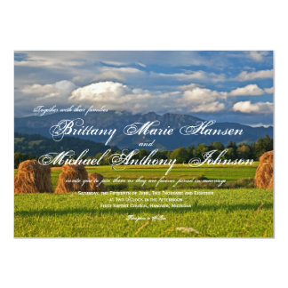 Rustic Mountain Field Country Wedding Invitations