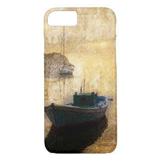 Rustic mountain lake canoe boat sailboat iPhone 8/7 case