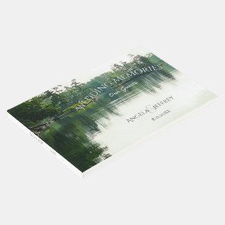 Rustic mountain lake wedding guests memories guest book