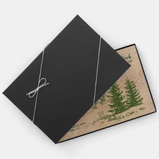 Rustic Mountain Range Wedding Guestbook