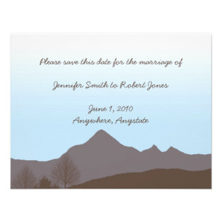 Rustic Mountain Watercolor Save the Date Announcement