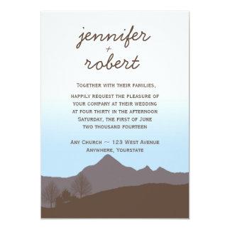 """Rustic Mountain Watercolor Wedding Invitation 5"""" X 7"""" Invitation Card"""