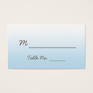 Rustic Mountain Watercolor Wedding Place Cards