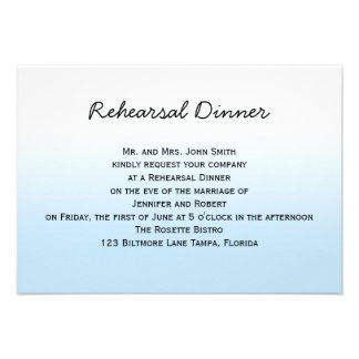Rustic Mountain Watercolor Wedding Rehearsal Custom Announcements