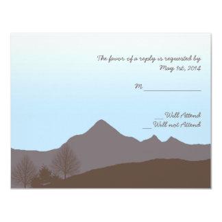 Rustic Mountain Watercolor Wedding Response Card Announcements