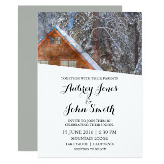 Rustic Mountain Winter Wedding Invitation