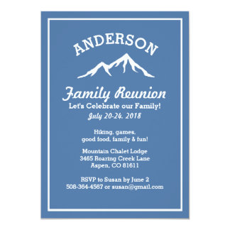 Rustic Mountains Family Reunion Trip Get Together Card