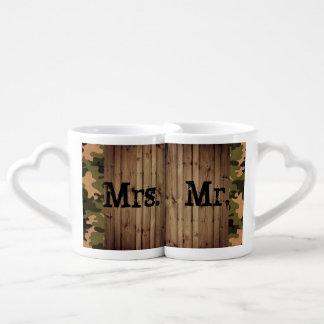 rustic mr and mrs western country Camo Wedding Lovers Mug Set