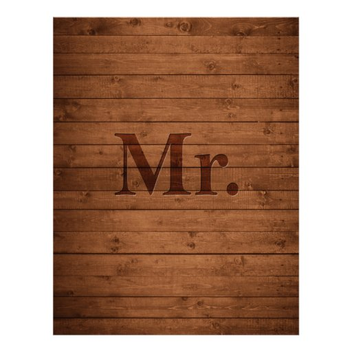 Rustic Mr. Letterhead Design