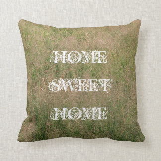 Rustic Nature grasses HOME SWEET HOME PILLOW