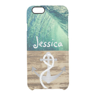 Rustic Nautical Ocean Wave Name Case