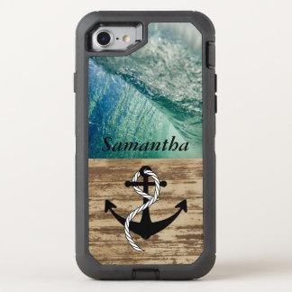 Rustic Nautical Ocean Wave OtterBox Defender iPhone 8/7 Case