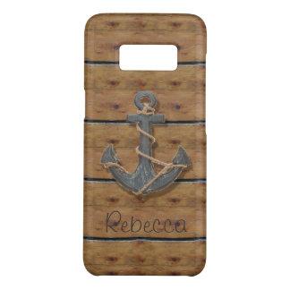 Rustic nautical preppy beach driftwood anchor Case-Mate samsung galaxy s8 case
