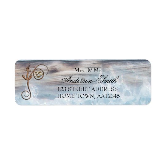 Rustic Nautical Wedding Return Address Label