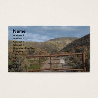 Rustic Nevada Mountains Customizable Business Card