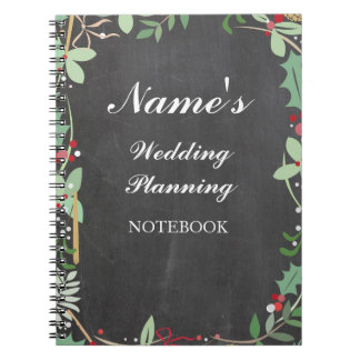 Rustic Notebook Wedding Planning Chalk Notes
