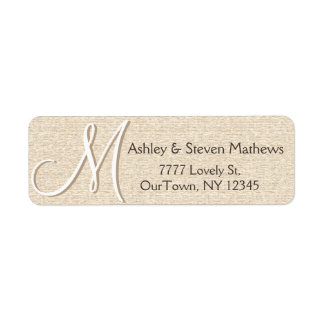 Rustic Oak Address Label