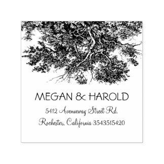 Rustic Oak Tree Branches Self-inking Stamp