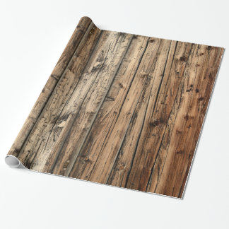 Rustic oak wood wrapping paper
