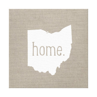 Rustic Ohio Home State Wrapped Canvas Stretched Canvas Print