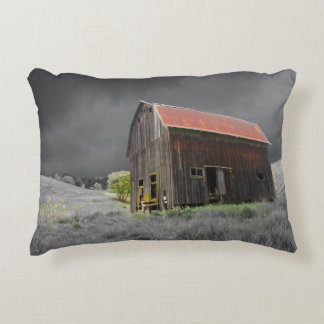 Rustic Old Barn Fine Art Photography Accent Pillow