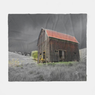 Rustic Old Barn Fine Art Photography Fleece Blanket