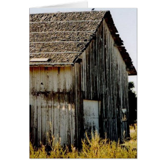 Rustic old building card