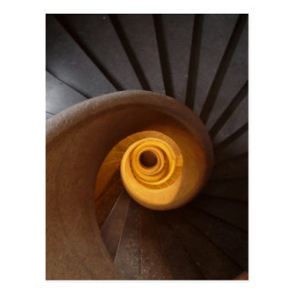 Rustic Old Spiral Staircase Postcard