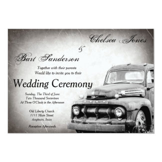 Rustic Old Truck Wedding Invitations