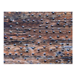 Rustic Old Weathered Wood with Nails Postcard
