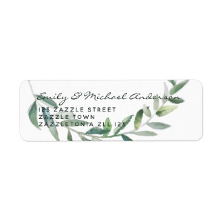 Rustic Olive Leaves Address Labels Modern