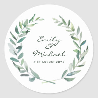 Rustic Olive Leaves Stickers Personalized
