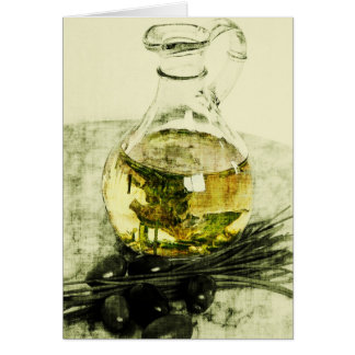 rustic olive oil greeting card