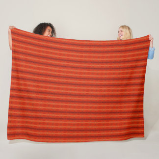 "Rustic Orange Aztec Pattern Blanket 60"" x 80"""