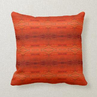 Rustic Orange Aztec Pattern Pillow