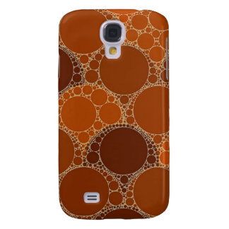 Rustic Orange Brown Circle Abstract