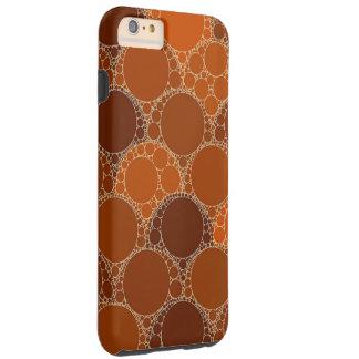 Rustic Orange Brown Circle Abstract Tough iPhone 6 Plus Case
