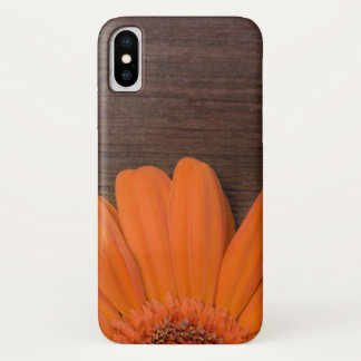 Rustic Orange Daisy and Barn Wood Case-Mate iPhone Case