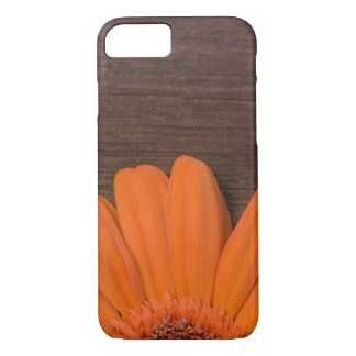 Rustic Orange Daisy and Barn Wood iPhone 7 Case