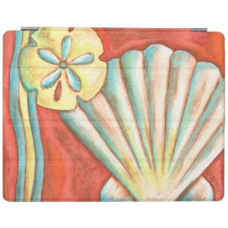 Rustic Orange Seashells iPad Cover