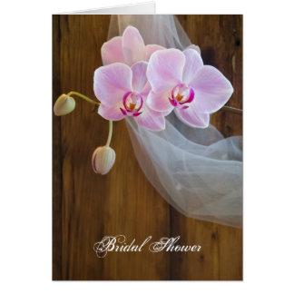 Rustic Orchid Elegance Bridal Shower Invitation