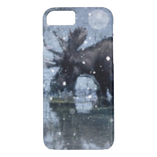 Rustic outdoorsman  wilderness wildlife bull moose iPhone 8/7 case