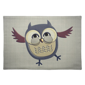 Rustic Owl with Glasses Placemat